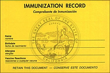 photo relating to California Immunization Card Printable named Substance Catalog