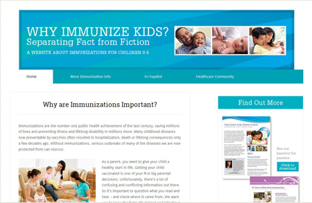 Why Immunize Kids website