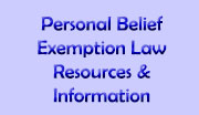 Personal Belief Exemption Law